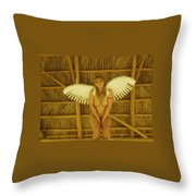 Everglades Angel Throw Pillow