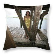 Everglades City Beauty 521 Throw Pillow