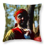Everglades Seminole Portrait Number Three Throw Pillow