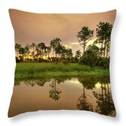 Everglades Sunrise Throw Pillow