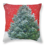 Evergreen In Winter #1 Throw Pillow