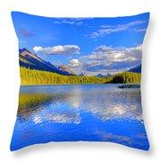 Evergreen Lake Throw Pillow