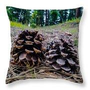 Evergreen Pinecones Throw Pillow