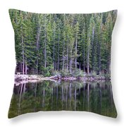 Evergreen Reflections Throw Pillow