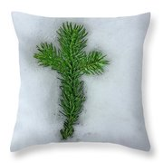 Evergreen Snow Cross Throw Pillow
