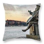 Evert Taube - Stockholm Throw Pillow