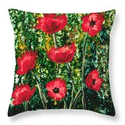Every Dream Turns Up Poppies Throw Pillow