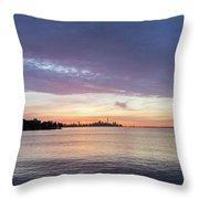 Every Morning Is Different - Toronto Skyline With An Awesome Cloudbank Throw Pillow