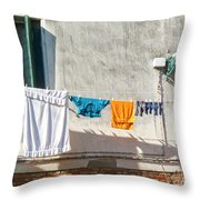 Everyday Life In Venice Throw Pillow