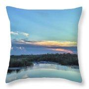 Everyglades Sunset Throw Pillow