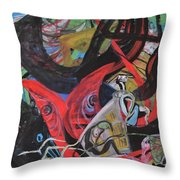 Everyone Is In His Own World Throw Pillow