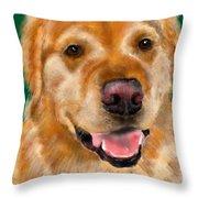 Everyone Loves A Golden  Throw Pillow