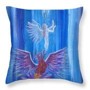 Everything In Due Time Throw Pillow by The Art With A Heart By Charlotte Phillips