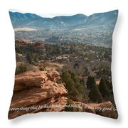 Everything That He Had Made Throw Pillow