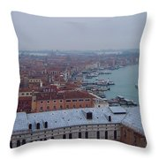 Everything Travels By Boat To Venice Throw Pillow