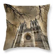 Evil Arms Throw Pillow