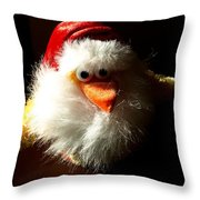 Evil Chicken Throw Pillow