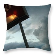 Evil Colonel Throw Pillow