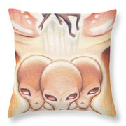 Evil Intentions Throw Pillow