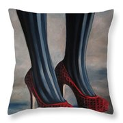 Evil Shoes Throw Pillow by Jindra Noewi