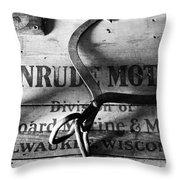 Evinrude Motors Crate Circa 1940s Throw Pillow