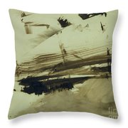 Evocation Of An Island Throw Pillow