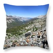 Evolution Lake And Valley Panorama From Darwin Bench - Sierra Throw Pillow