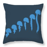 Evolution Of Spine Throw Pillow