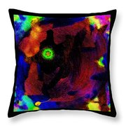 Evolution Of The Self In Chaos Throw Pillow