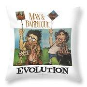 Evolution Poster Throw Pillow