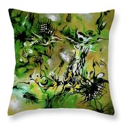 Evolving Element Of Life Throw Pillow
