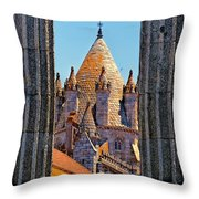 Evora's Cathedral Tower Throw Pillow