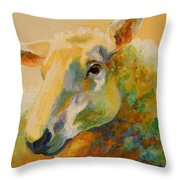 Ewe Portrait IIi Throw Pillow