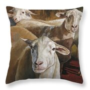 Ewes In The Paddock Throw Pillow