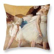 Examen De Danse-dance Examination Throw Pillow