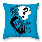 Examine Yourself-man Throw Pillow