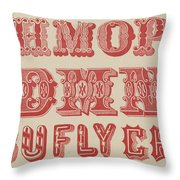 Examples Of Letters  Throw Pillow