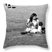 Excavation Throw Pillow