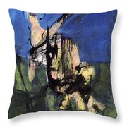Excavation Of The Sky Throw Pillow