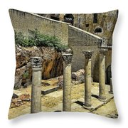 Excavations Throw Pillow