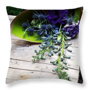 Excellent Customer Service. #flowers Throw Pillow