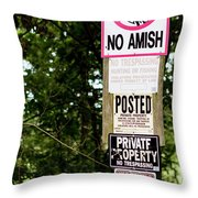 Excessive Property Signs Throw Pillow