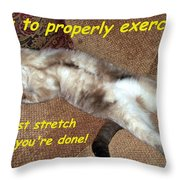Exercise 101 Throw Pillow