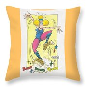 Exercise Wisely Throw Pillow