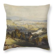 Exeter From Exwick, 1773 Throw Pillow