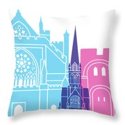 Exeter Skyline Pop Throw Pillow