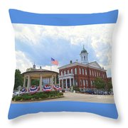 Exeter Town Hall Throw Pillow