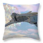 Exiting A Worm Hole Throw Pillow