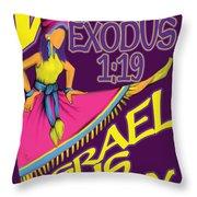 Exodus 1vs19 Israel Lively Throw Pillow