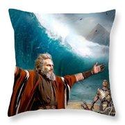 Exodus Moses And Pharaoh  Of Egypt Throw Pillow